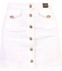 versace jeans couture denim skirt