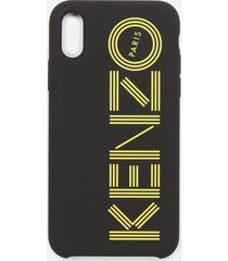 kenzo men's tonal logo iphone x case - black/yellow