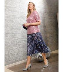 plisserad kjol miamoda flerfärgad