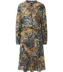 jurk lange mouwen en luipaarddessin van uta raasch multicolour