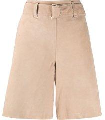 arma wide-leg shorts - neutrals