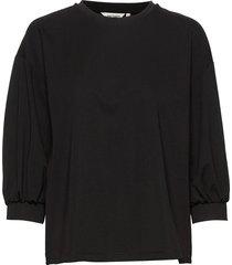 vitkastella shirt t-shirts & tops long-sleeved zwart marimekko