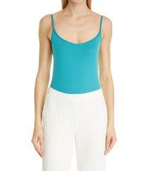 women's simon miller ano square neck bodysuit, size x-small/small - blue