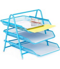 mind reader 3 tier paper tray desk organizer