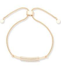 dkny gold-tone pave bar slider bracelet