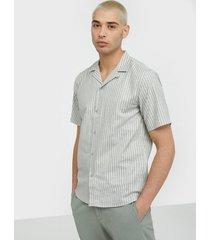 les deux simon linen shirt ss skjortor ljus grå