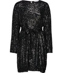 cora sequin dress kort klänning svart camilla pihl