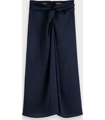 scotch & soda knot front midi skirt