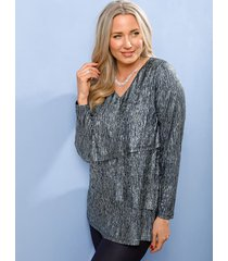 shirt miamoda marine::zilverkleur