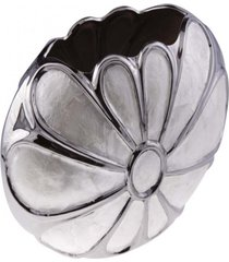 vaso decorativo- pashmina- vaso decorativo mop- prata - prata - dafiti