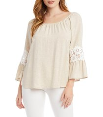 women's karen kane lace inset peasant top