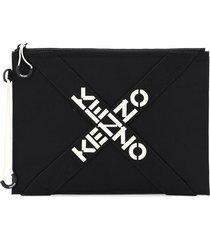 kenzo large pouch cross logo