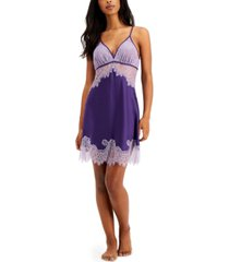 inc satin lace chemise nightgown, created for macy's