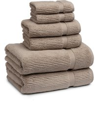 kassatex mateo 6-piece bath towel, hand towel & washcloth set, size one size - beige