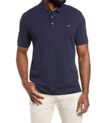 brax pete stretch cotton polo shirt, size small in ocean at nordstrom