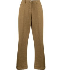 aspesi loose-fit trousers - brown