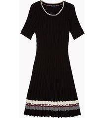 tommy hilfiger women's adaptive pleated dress deep black - l