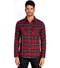 jared lang stretch flannel sport shirt