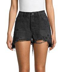 bonitas high-rise distressed denim shorts