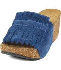 sandalia reno flecos jeans mailea