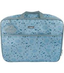 mala bolsa maternidade hug névoa azul xg