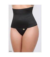 cinta calcinha seca barriga ponto certo lingerie modeladora alta preto