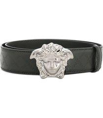 versace palazzo medusa belt - black