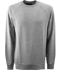 fay grey cotton blend sweatshirt