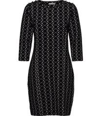 frmevar 1 dress jurk knielengte zwart fransa