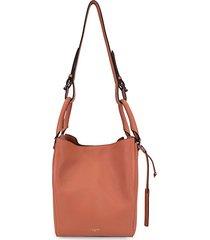 jordan leather convertible bucket bag