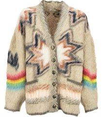 etro jacquard cardigan with geometric pattern