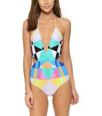 one piece swimsuit swimwear women vintage retro monokini biquini plus size xs-xl