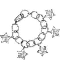 steve madden rhinestone star cable link bracelet