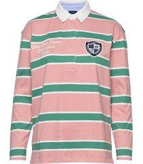 d1. gant varsity heavy rugger t-shirts & tops long-sleeved multi/patroon gant
