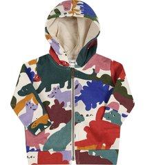 bobo choses ivory sweatshirt for babykids with dinosaurs