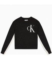 sweater ck logo grafito calvin klein