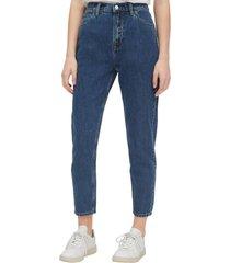 jeans mom medium indigo azul gap