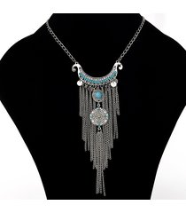 collana pendenti con ciondoli geometrici collana turchese vintage per donne