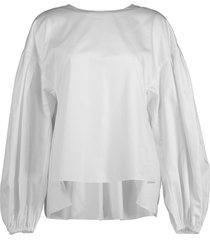 cotton shirred back top