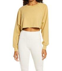 women's alo double take crop sweatshirt