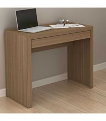 mesa escrivaninha 1 gaveta amendoa me4107 - tecno mobili
