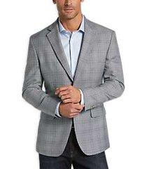pronto uomo platinum modern fit sport coat gray plaid