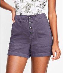 loft curvy casual utility shorts