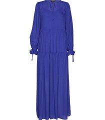 slfwillow ls maxi dress b maxi dress galajurk blauw selected femme
