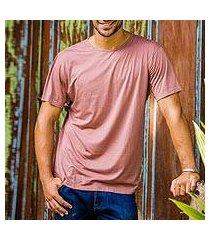 men's cotton founder's t-shirt, 'brown kuta breeze' (indonesia)
