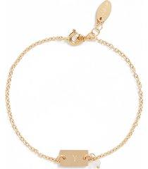 women's nashelle shaka initial 14k-gold fill bar bracelet