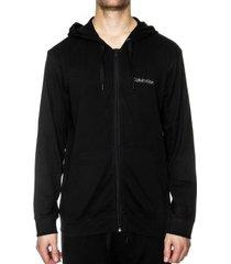 calvin klein cotton modal lounge full zip hoodie * gratis verzending *