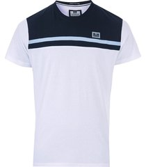 weekend offender mens black dolphin panel t-shirt size s in white
