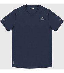 camiseta azul-gris adidas performance run it