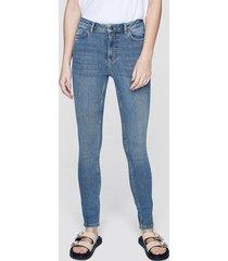 high waist hannah skinny jeans - ljusblå